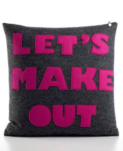 LET'S MAKE OUT recycled felt applique pillow by alexandraferguson - Windows Inte_2014-11-21_13-14-51