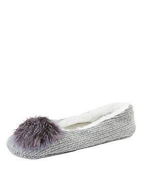pompom ballet slipper socks