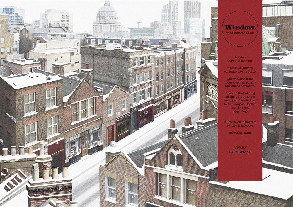 londonsnowchristmasadventcalendarwindowcards